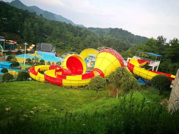 Chiny Safety Fibreglass Backward Tantrum Valley For Aqua Park / Industrial Water Slide dostawca