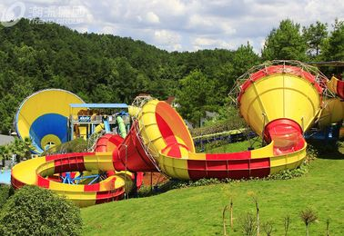Commercial Trumpet Fiberglass Water Slides For Adults / Water Park Playground
