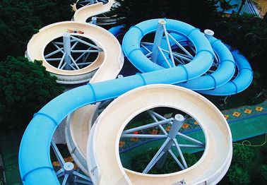 Chiny Spiral Waterpark Slide , FRP Water Park Slides / Cuustomized Water Slide for Giant Aqua Park dostawca