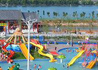 Chiny Attractive Kids' Water Slides , Aqua Play Equipment Fiberglass Pool Slide fabryka
