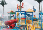 Chiny Professional Kids Water Play Equipment Structures With Water Slide , Climb Net fabryka