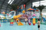 Chiny Interactive Fiberglass  Water House / Slide Toddler Playground Equipment  for Water Park 150 Riders / Time firma
