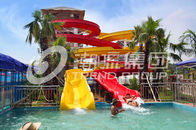 Chiny Customized Family Aqua Park Slides Outdoor Fiberglass Water Slide For Amusement Park firma