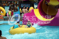 Chiny Children waterslide above ground pool water slide for family interactive water play firma