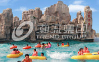 Chiny Fashional Fiberglass Water Parks With Wave Pools Popular Cool / Water Slide firma
