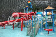 Chiny Customized Children Water Slides Amusement Park Games With Galvanized Steel Support fabryka