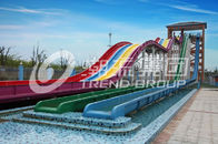 Chiny Cool Huge Fun Rainbow Water Slides With Custom Length 4 Lanes firma
