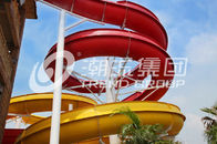 Chiny Outdoor Fiberglass Water Slides Custom FRP Spiral Red Water Slides CE firma