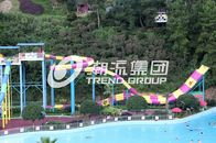 Chiny Customized Water Park Equipment Exciting Swwiming Pool Fiberglass Waterslides For Adults fabryka
