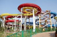 Chiny Galvanized carbon steel Custom Water Slides For Giant Outdoor Water Park fabryka