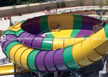 16m Space Bowl Water Slide Red / Yellow Aqua Park Construction