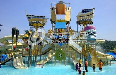 Chiny Customized Childrens Water Park Fiberglass Water Slides Entertains for Water Park fabryka