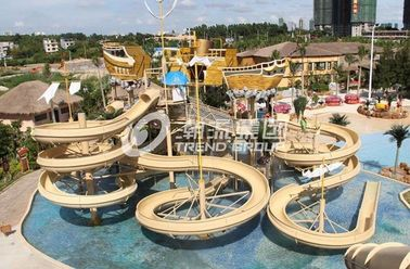 Chiny Giant Customized Water Playground Equipment for Aqua Theme Park Fiberglass Water Slide fabryka