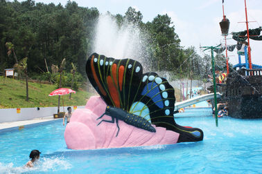 Chiny Multicolored Swimming Pool Water Slides , Kids Butterfly Outdoor Water Slides Games for Water Park fabryka