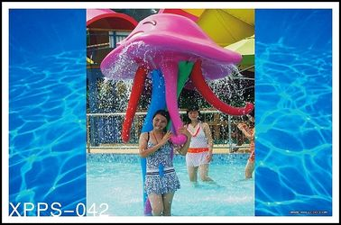 Customized Aqua Play, Octopus Spray, Fiberglass Spray Park Equipment For Children
