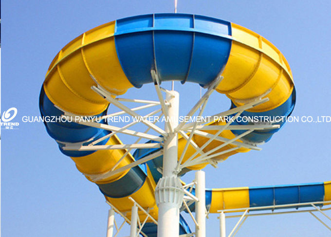 Customized Water Park Equipment Exciting Swwiming Pool Fiberglass Waterslides For Adults
