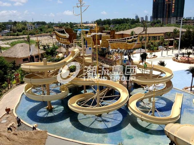 Giant Customized Water Playground Equipment for Aqua Theme Park Fiberglass Water Slide