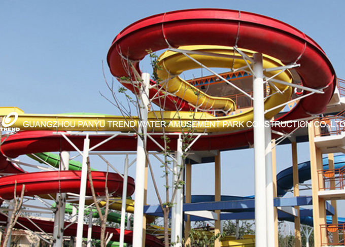 Spiral Waterpark Slide , FRP Water Park Slides / Cuustomized Water Slide for Giant Aqua Park